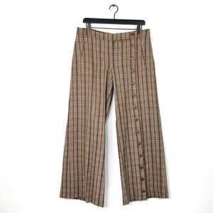 Anthropologie | Taikonhu Plaid Wool Button Pants